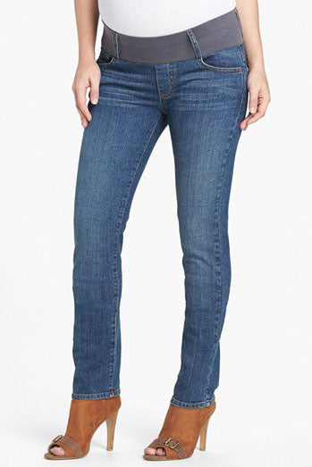 Skinny Maternity Jeans Classic Wash Maternal America - Seven Women Maternity