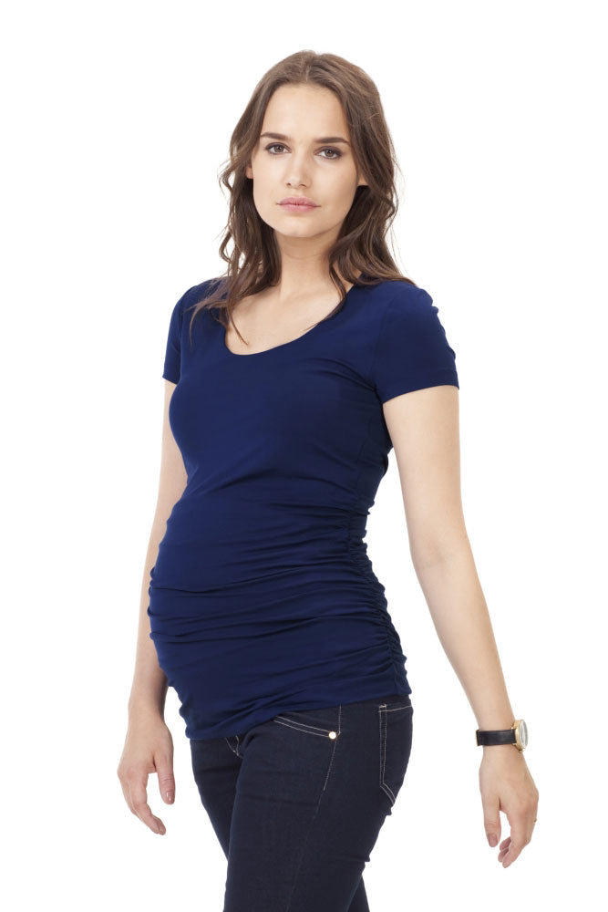 Isabella Oliver Scoop, Cap Sleeve Maternity Top