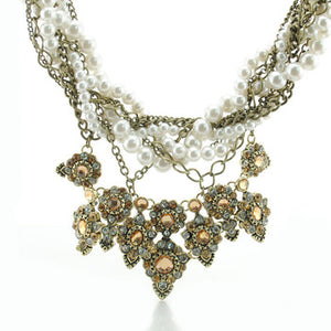 Anastasia Pearl And Chain Necklace