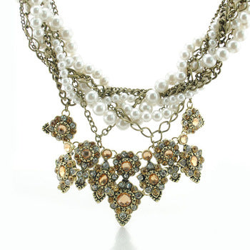 Anastasia Pearl And Chain Necklace - Seven Women Maternity