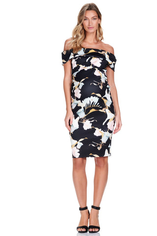 Pietro Brunelli Milano Flower Sleeve Maternity Dress