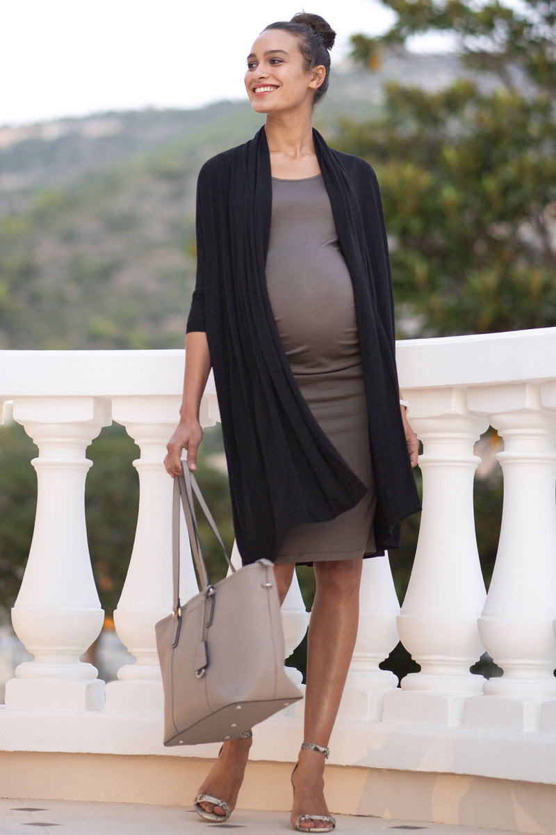 Seraphine Twin Set Clarabelle Bodycon Maternity Dress with Waterfall Cardigan - Seven Women Maternity