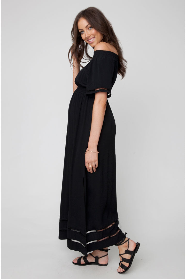 Ripe Off-The-Shoulder Maternity Maxi - Seven Women Maternity