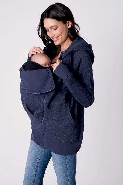 Connor 3 in 1 Navy Maternity Hoodie Seraphine