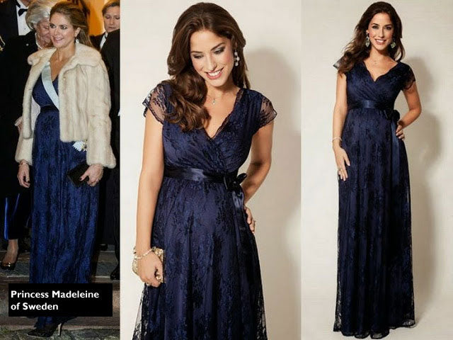 Tiffany Rose Eden Lace Maternity Gown worn by Princesses of Sweden