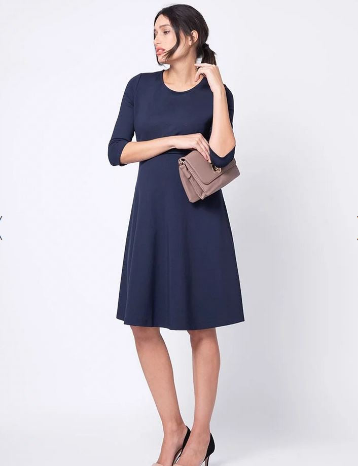 Seraphine Davida Ponte Maternity & Nursing Dress - Seven Women Maternity