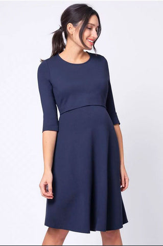 Seraphine Abalina Chambray Belted Maternity Shirt Dress