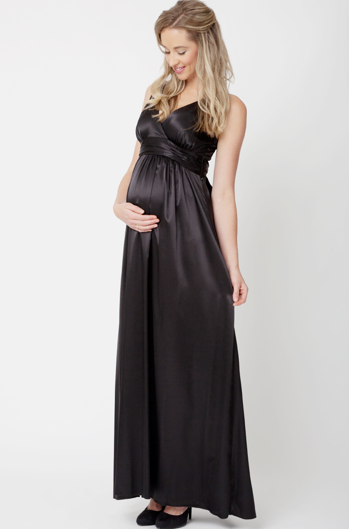 Ripe Satin Gown Maternity Dress - Seven Women Maternity