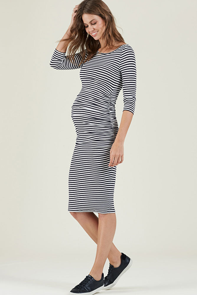Isabella Oliver ARLINGTON STRIPED MATERNITY DRESS - Seven Women Maternity