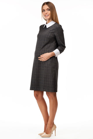 Gia Maternity Plaid Sweater Shirt made in Italy