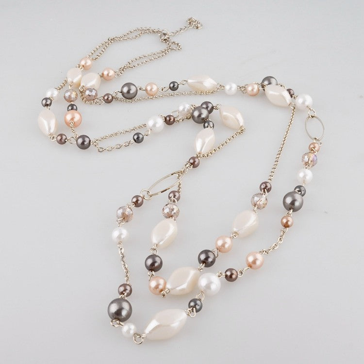 Elegant Pearl Chain Necklace - Seven Women Maternity