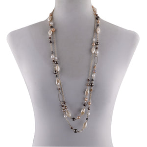 Elegant Pearl Chain Necklace