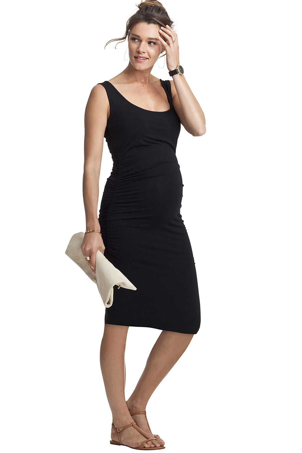 Isabella Oliver Ellis Ruched Tank Maternity Dress