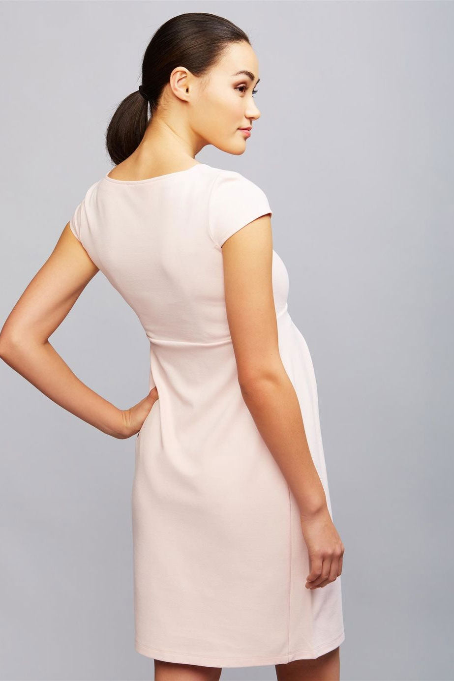 Isabella Oliver Farah Maternity Shift Dress in Soft Blush