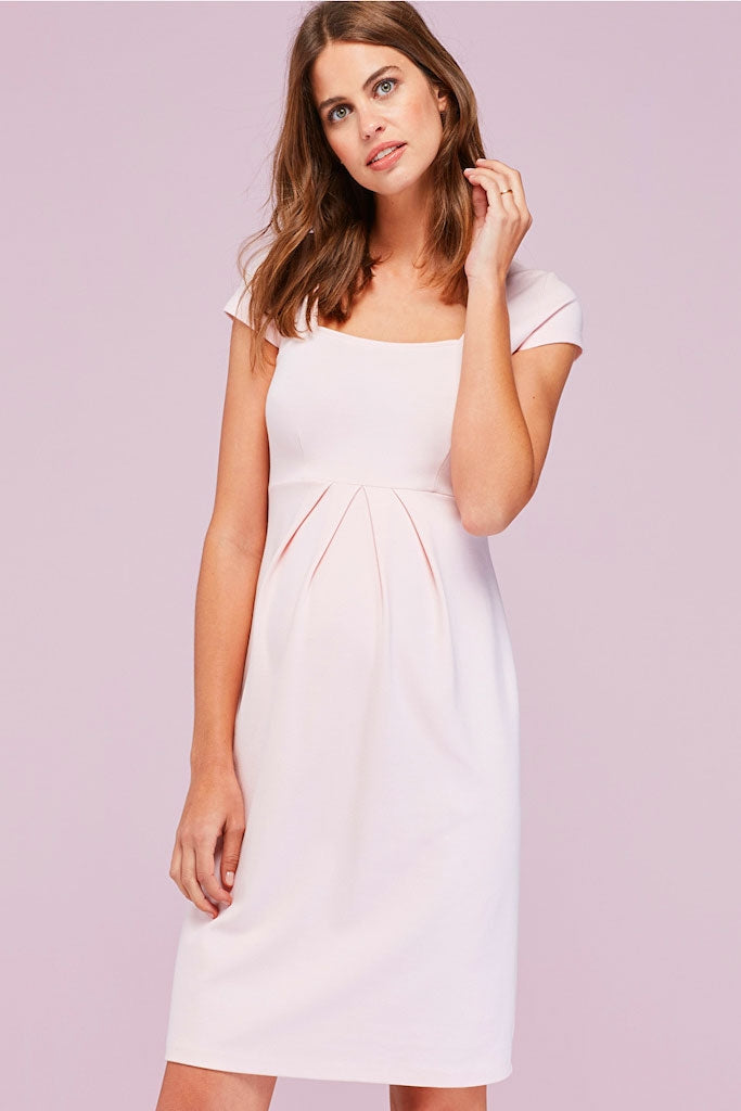 Isabella Oliver Farah Maternity Shift Dress in Soft Blush - Seven Women Maternity