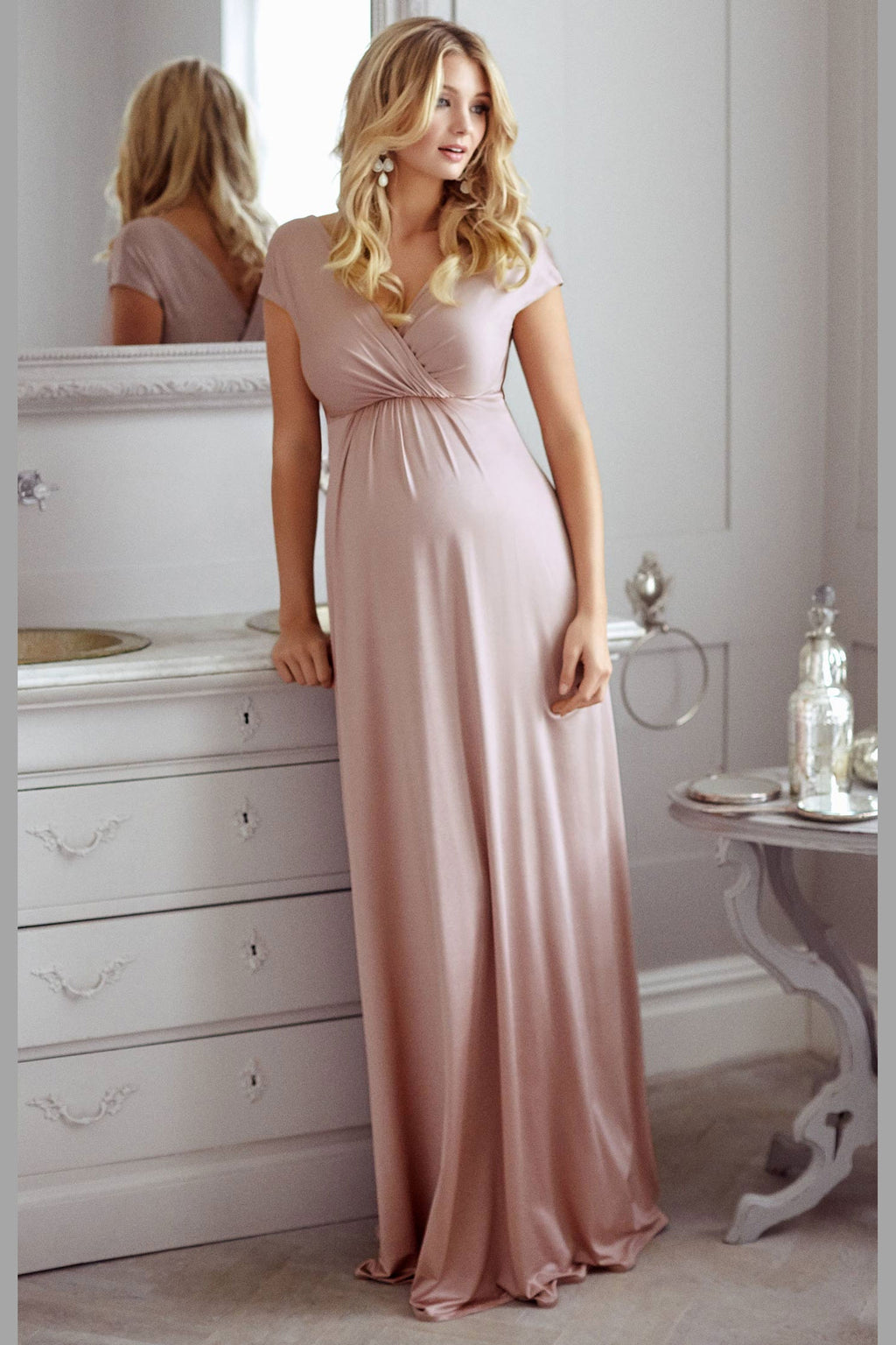 Tiffany Rose Francesca Maternity and Nursing Maxi in Blush - Seven Women Maternity