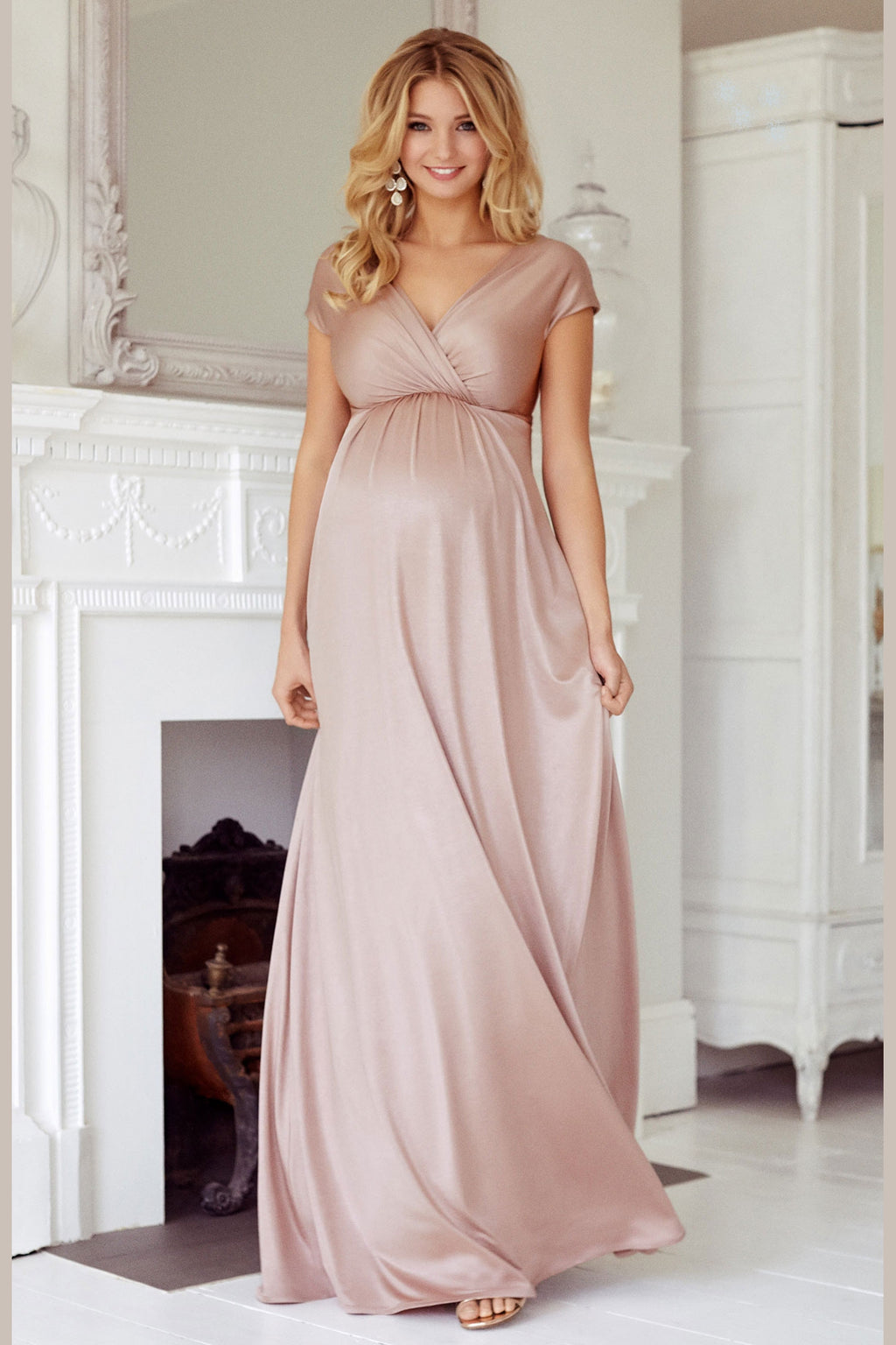 Tiffany Rose Francesca Maternity and Nursing Maxi in Blush