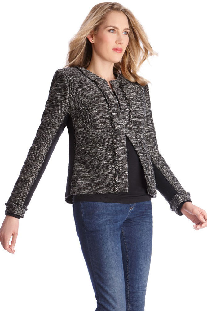 Seraphine Francoise Tweed Maternity Jacket