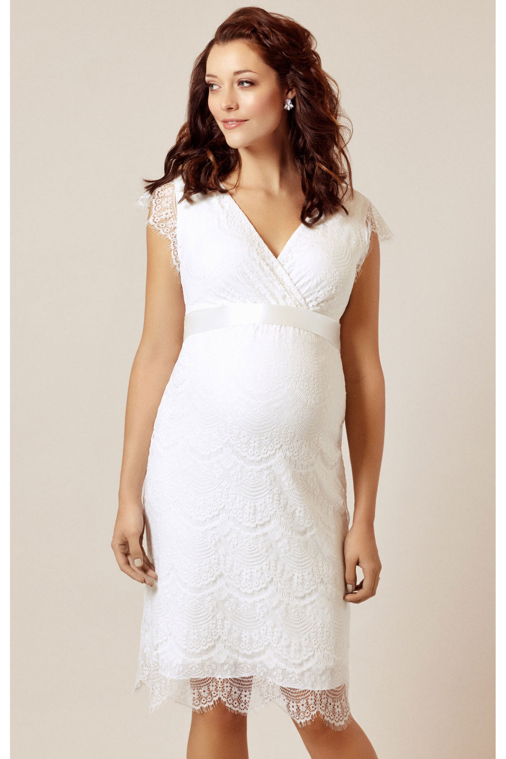 Tiffany Rose Imogen Bridal Shift Dress in Ivory - Seven Women Maternity