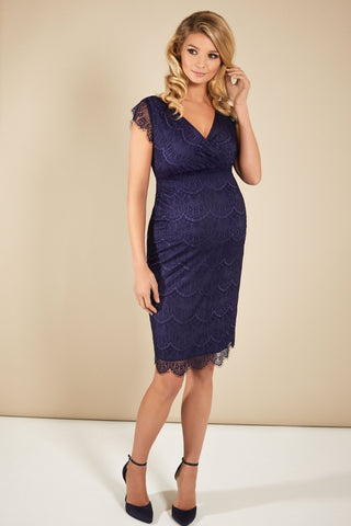 Tiffany Rose Gold Leaf Bardot Maternity & Nursing Dress
