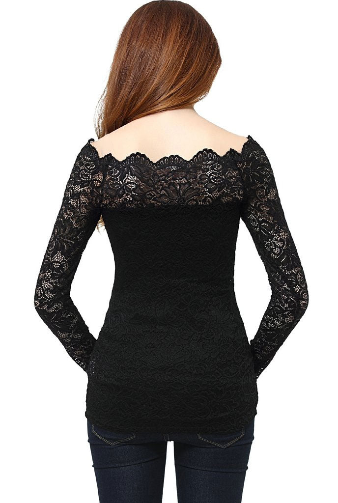 Christelle Lace Maternity Off Shoulder Top