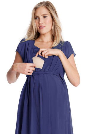 Seraphine Jodie Chiffon Maternity Dress & Nursing - Seven Women Maternity