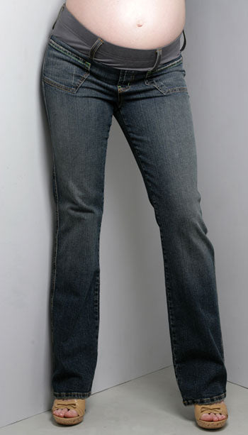 Straight Leg Maternity Jeans by Maternal America