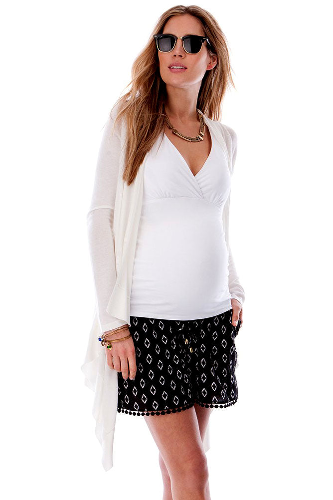 Seraphine Melissa Waterfall Light Maternity Cardigan - Seven Women Maternity