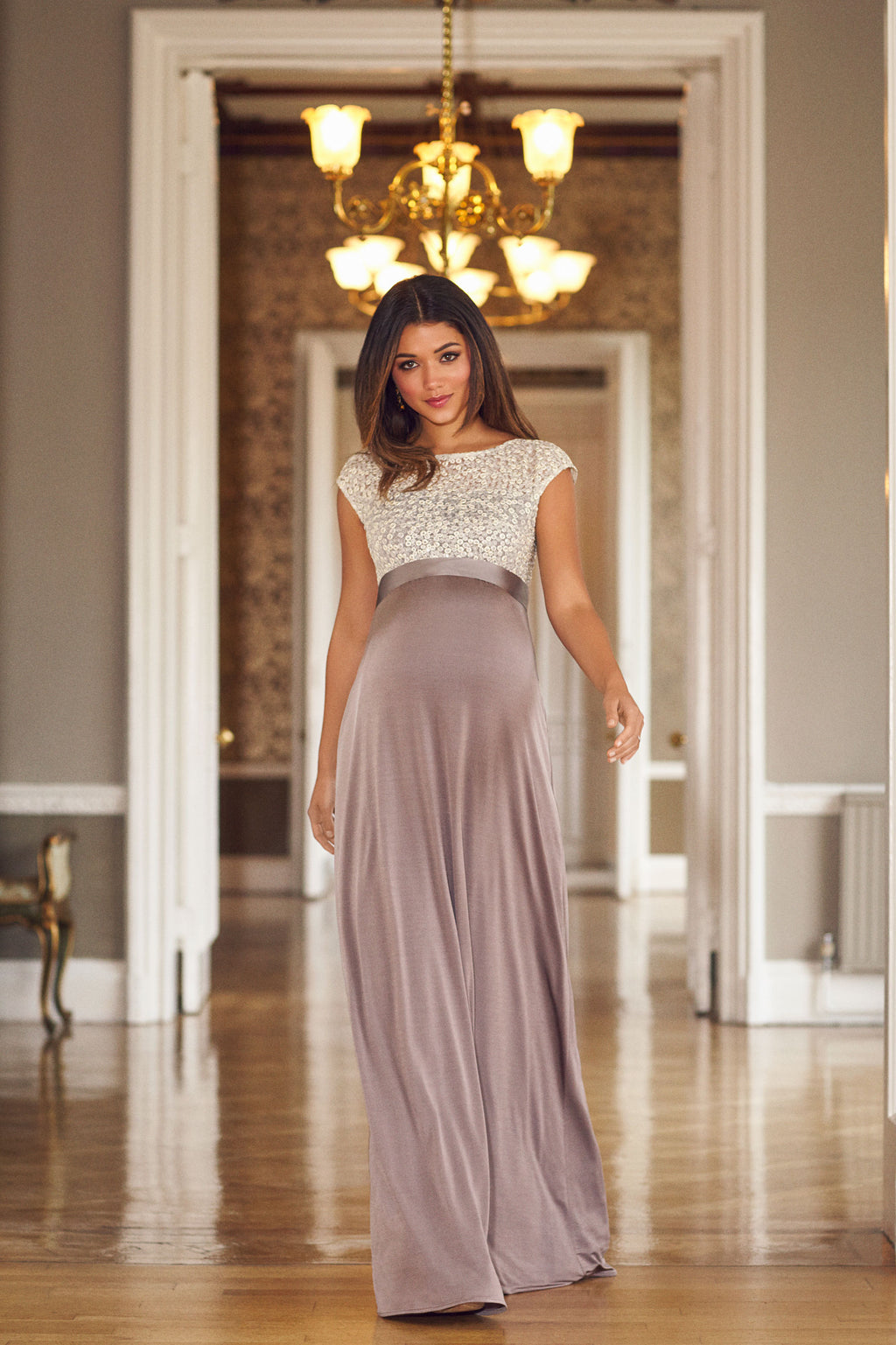Tiffany Rose Mia Maternity Sequins Gown - Seven Women Maternity