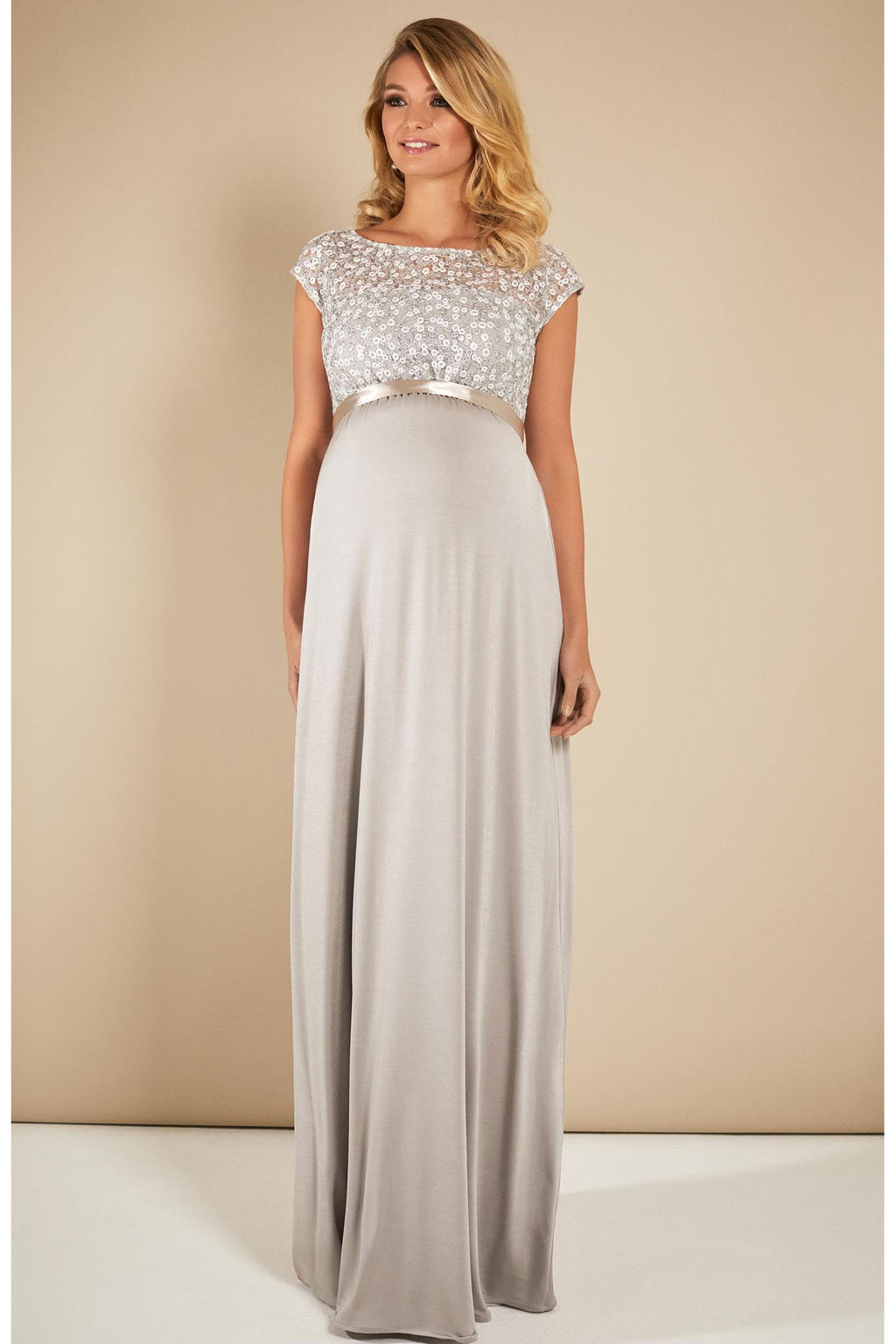 Tiffany Rose Mia maternity Gown in Silver