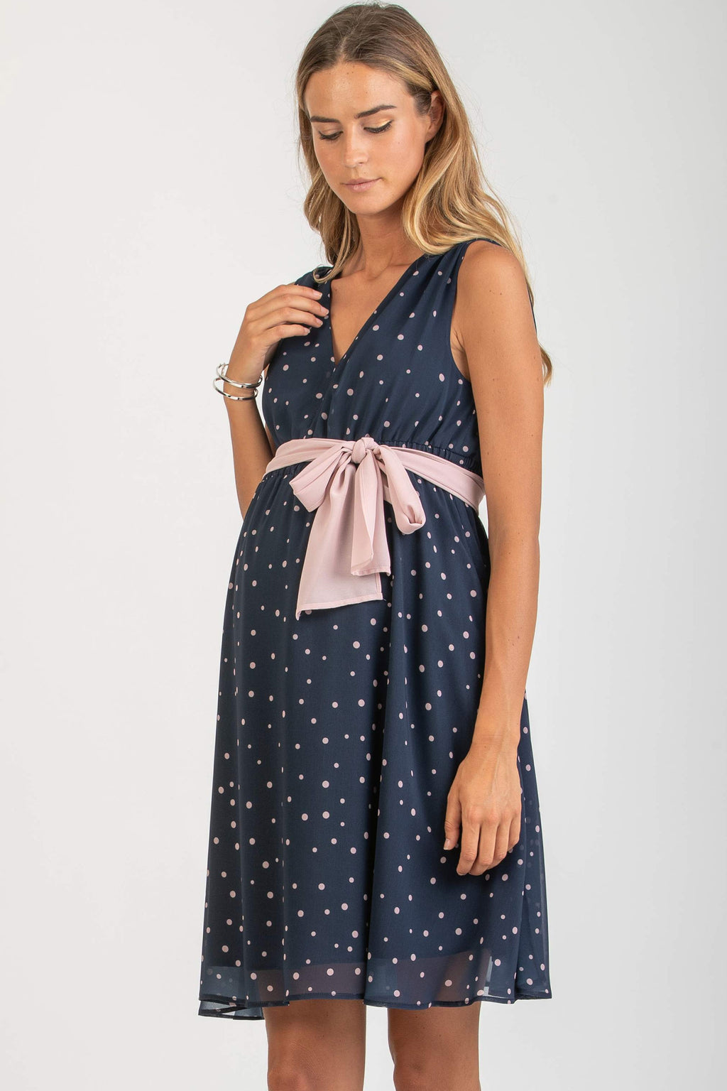 Michaela Chiffon Maternity Dress