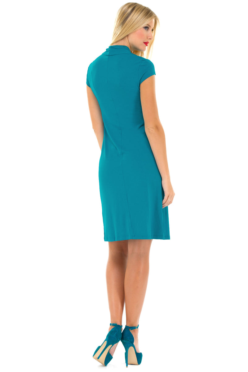 Olian Twisted V-neck, Cap-Sleeve Maternity Dress