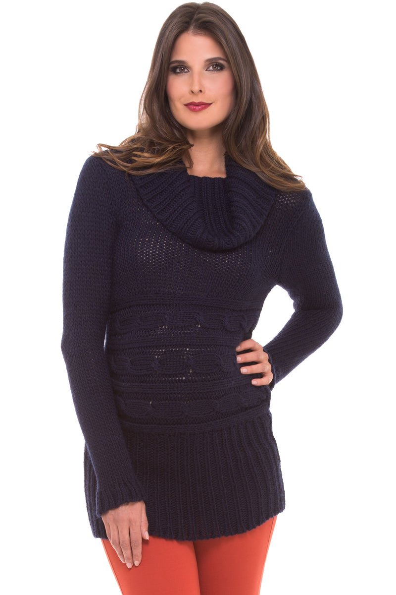 Cowl Neck Maternity Sweater Olian - Seven Women Maternity