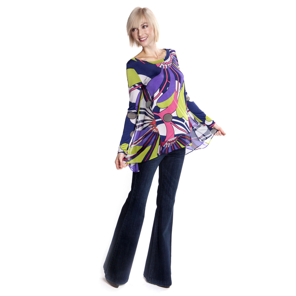 Pucci Inspired Silk Maternity Blouse - Seven Women Maternity
