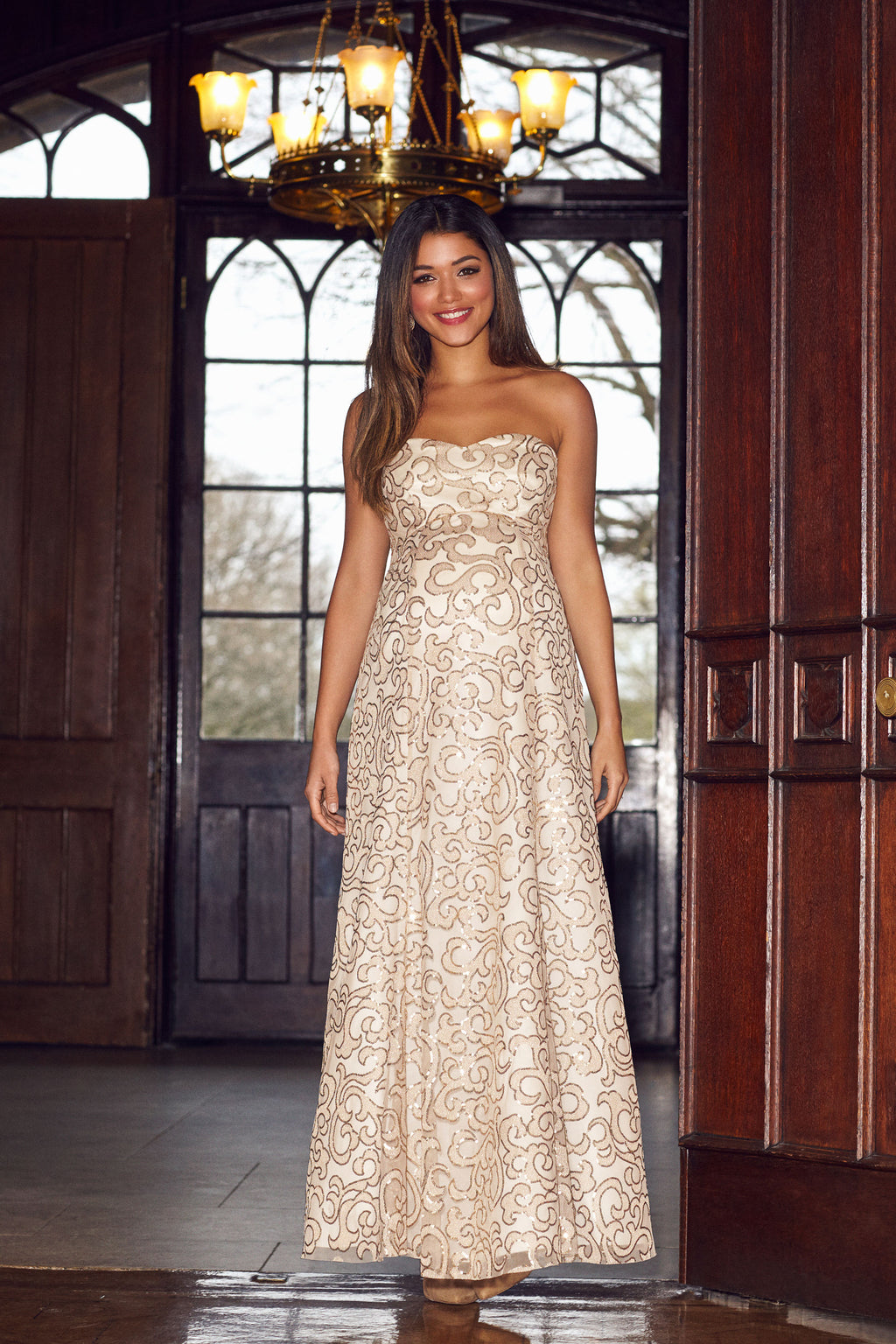 Tiffany Rose Olivia Maternity Sequins Gown