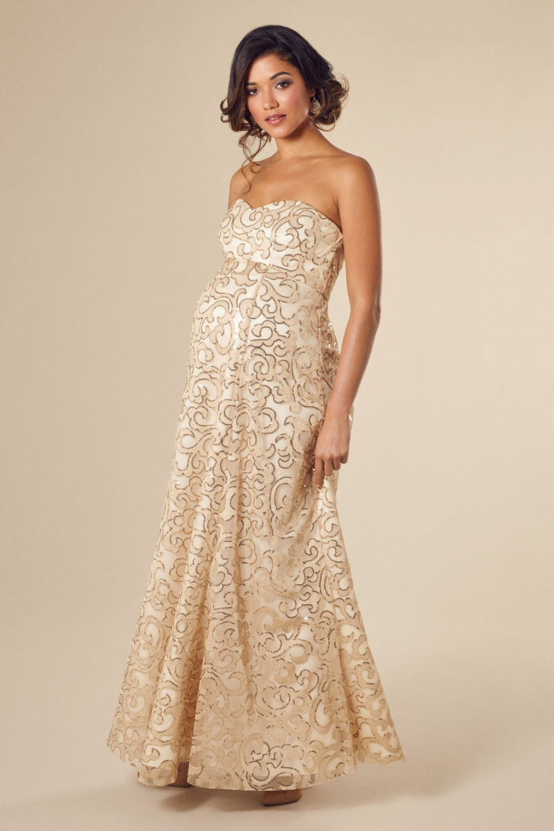 Tiffany Rose Olivia Maternity Sequins Gown - Seven Women Maternity