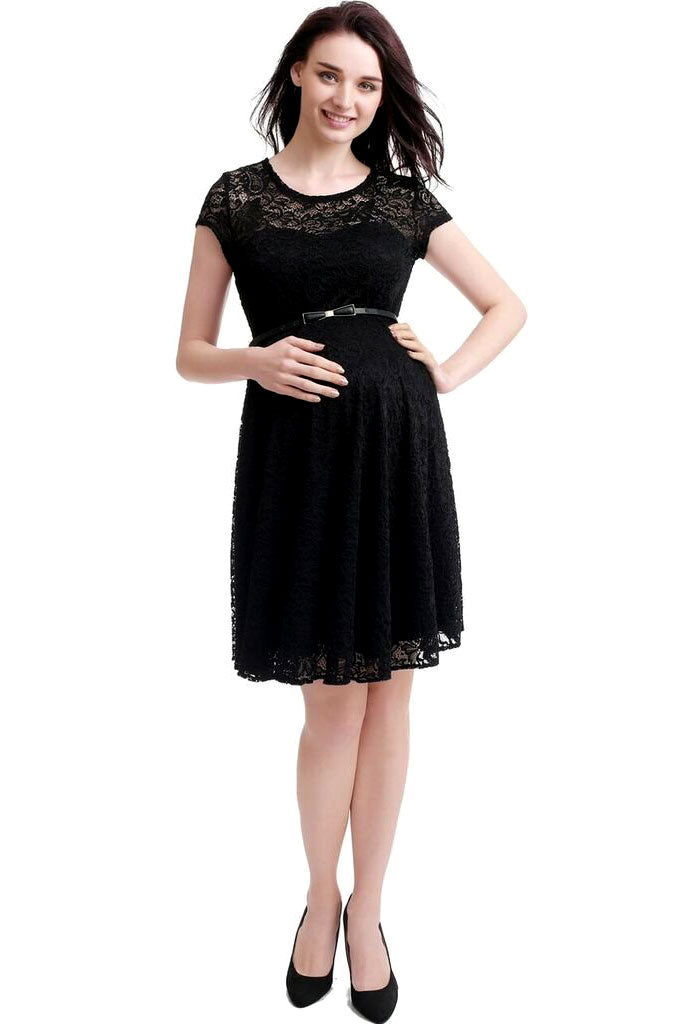 Kimi + Kai Maternity Olivia Lace Skater Dress - Seven Women Maternity
