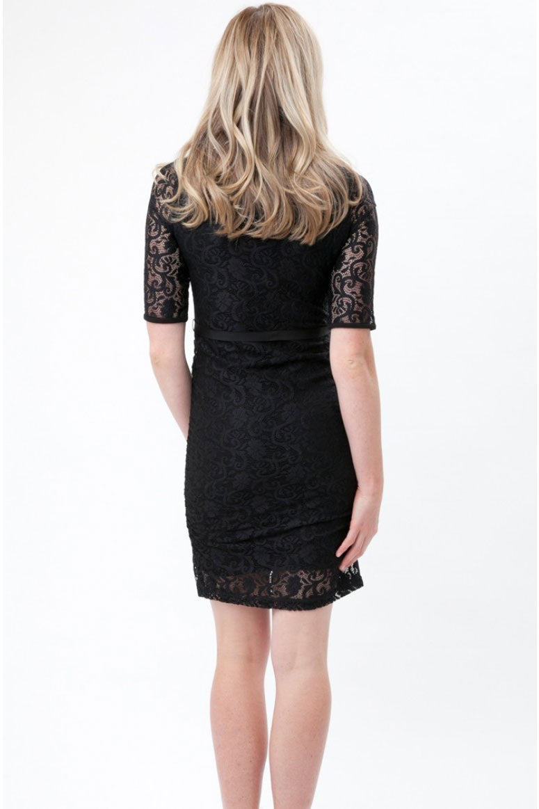 Lace Maternity Dress by Ripe in Caviar - Seven Women Maternity