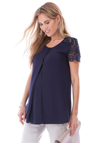 Seraphine Blanche Boho Maternity Nursing Dress