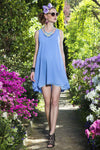 Pietro Brunelli Provence Chiffon Maternity Dress in Blue
