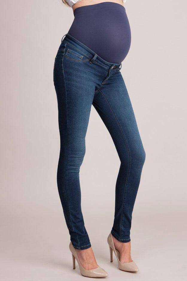 Seraphine Penny Over Bump Slim Leg Maternity Jeans