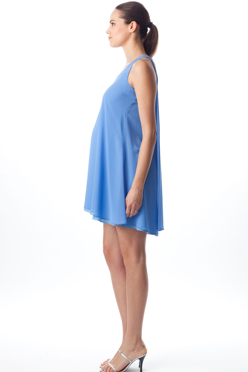 Pietro Brunelli Provence Chiffon Maternity Dress in Blue - Seven Women Maternity