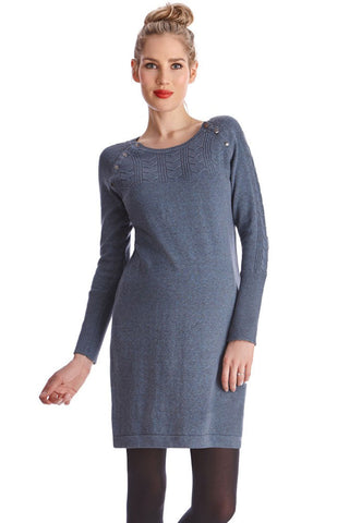 Seraphine Jenny Bordeaux Knitted Maternity & Nursing Dress