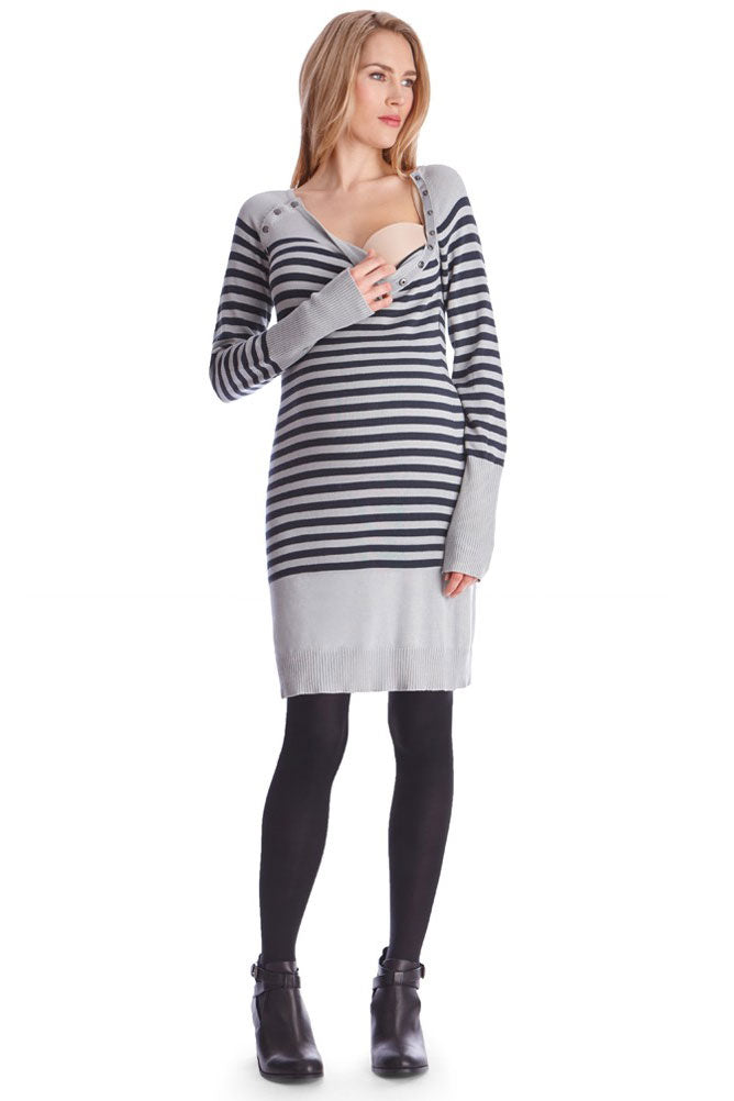 Seraphine Rozalia Maternity and Nursing Knitted Tunic - Seven Women Maternity