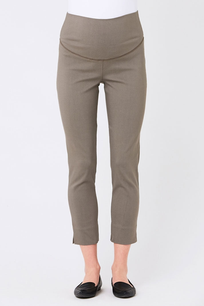 Sara Crop Skinny Pants in Putty by Ripe - Seven Women Maternity