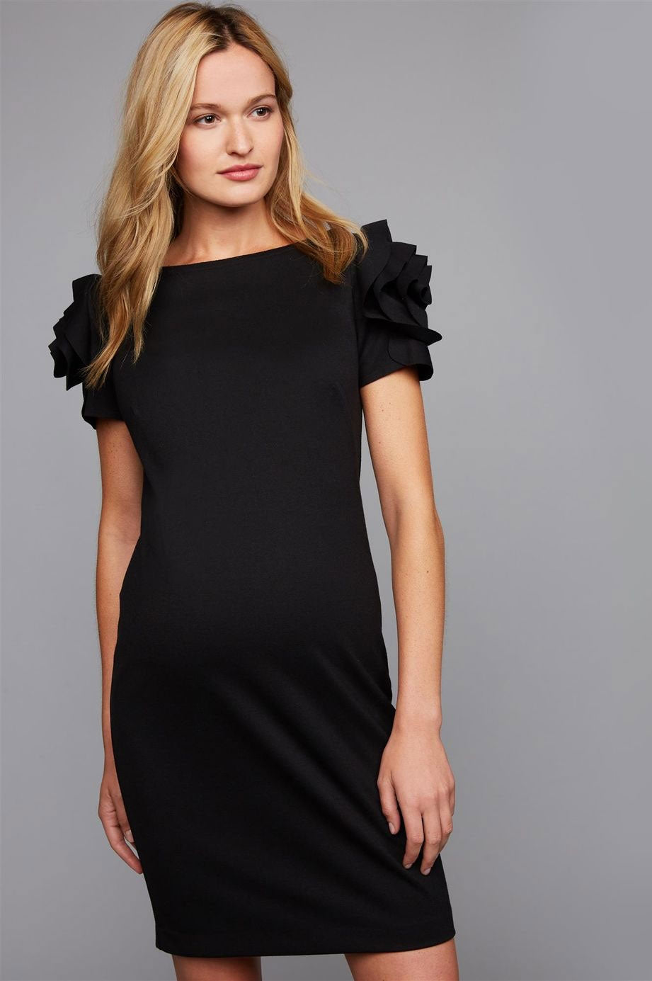 Milano Flower Sleeve Maternity Dress Pietro Brunelli - Seven Women Maternity