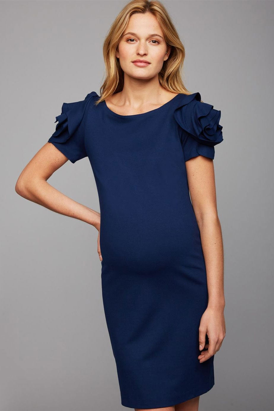 Pietro Brunelli Milano Flower Sleeve Maternity Dress - Seven Women Maternity