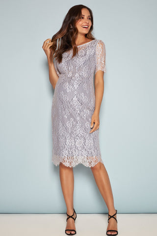 Milano Flower Long Sleeve Maternity Dress