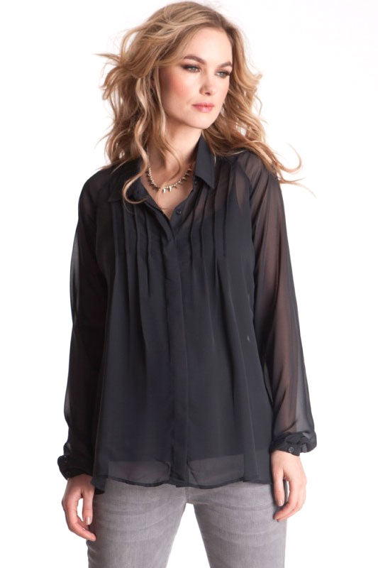 Elarice Maternity Blouse Caviar Black - Seven Women Maternity