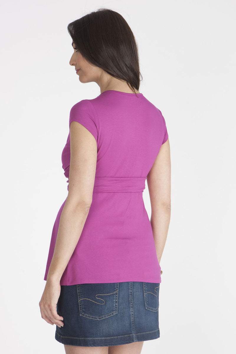 Seraphine Jolie Knotted Maternity Top in Fuschia - Seven Women Maternity